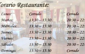 Horario-Restaurante